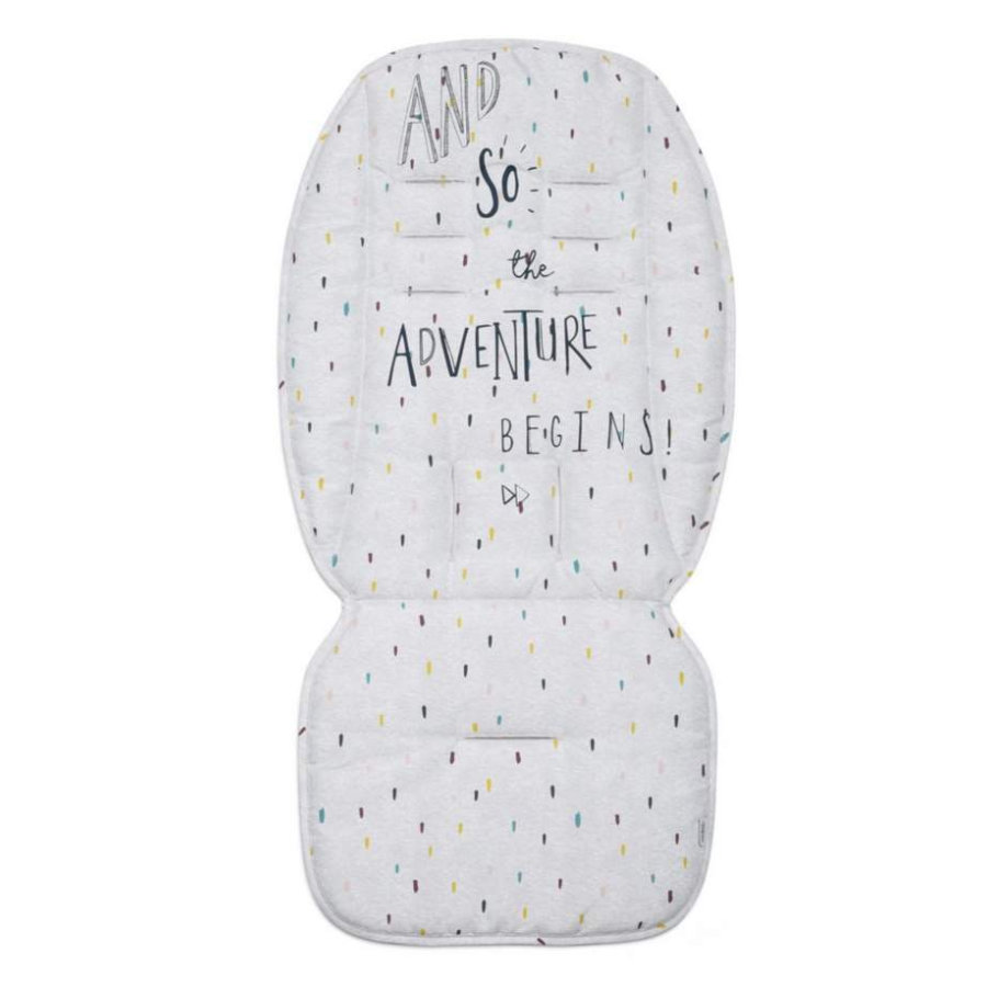 mamas & papas Matelas d'assise de poussette Adventure Begins off white