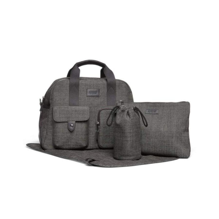 mamas & papas Wickeltasche Bowling Chestnut Tweed