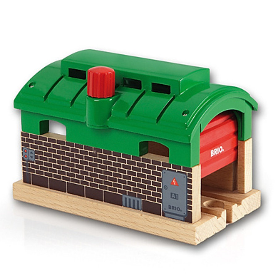 BRIO Locomotive Shed with Roller Shutter