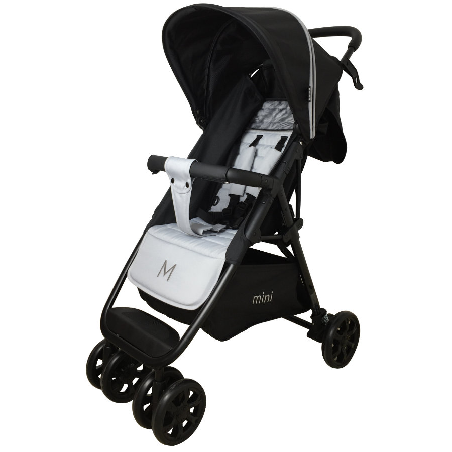 MOON paraplyklapvogn, buggy Mini sort/hvid