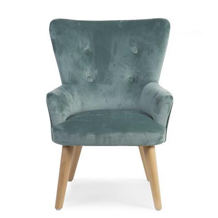 CHILDHOME lille Sofa 1P Grøn Velvet