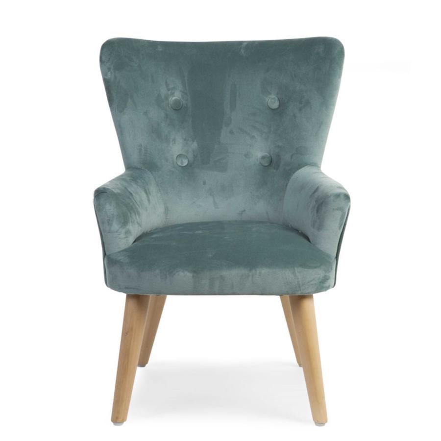 CHILDHOME Kleines Sofa 1P grün Velvet