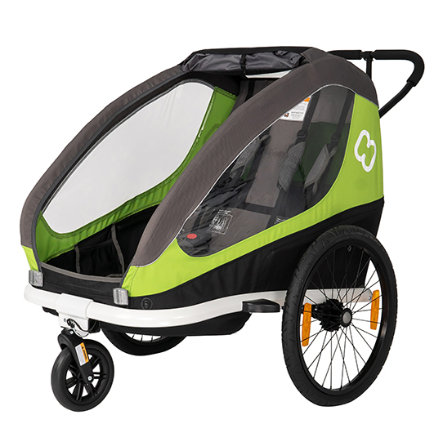 hamax Cykelvagn Traveller Green/Grey