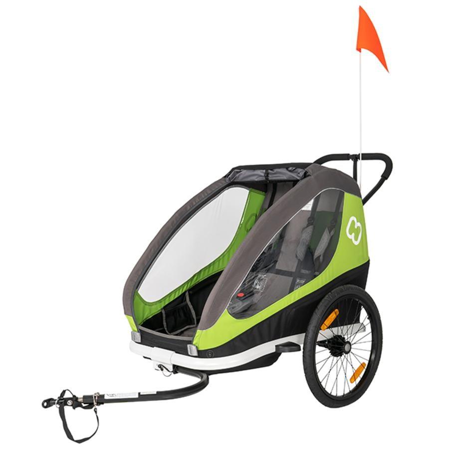 hamax cyklovozík Traveller včetně oje a kočárkového kolečka Green/Grey