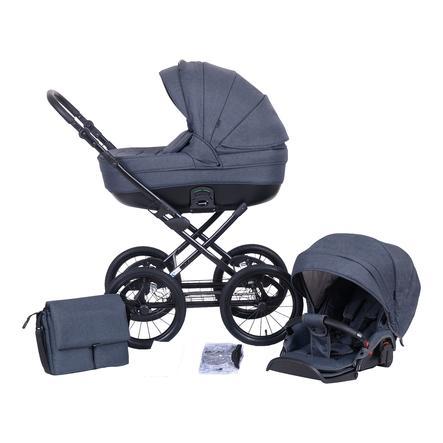 knorr-baby Kombikinderwagen Kreta 9-teiliges Set Anthrazit