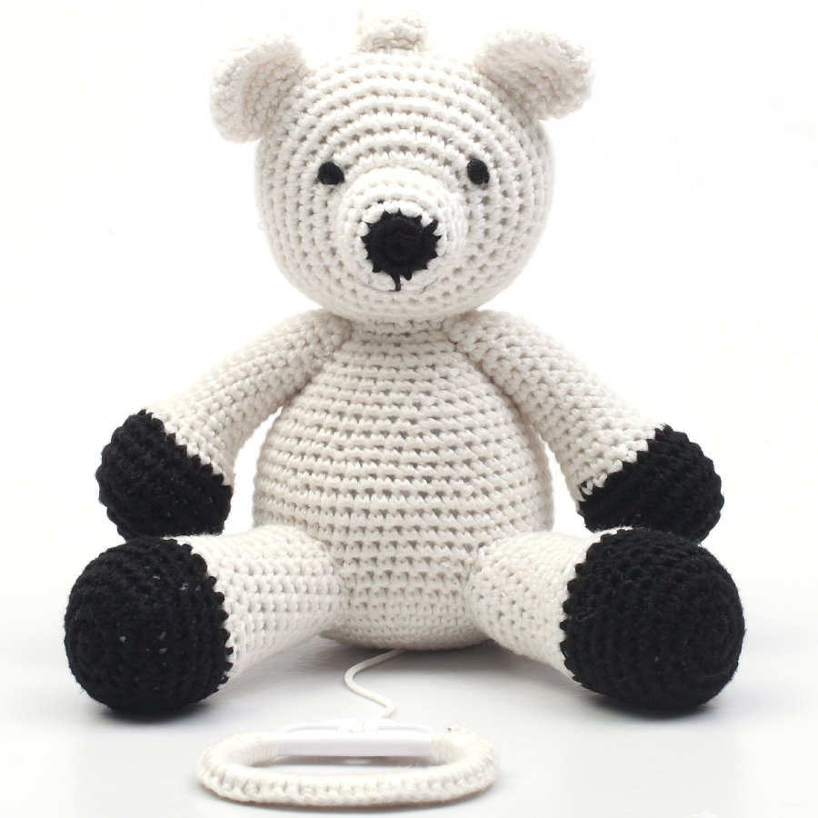 natureZoo of Denmark Peluche musicale à crochet ours polaire blanc