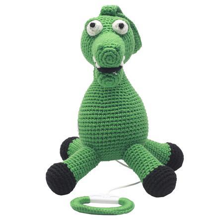 natureZoo of Denmark »gehäkelte Spieluhr Krokodil, grün«