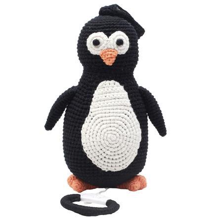 natureZoo of Denmark gehäkelte Spieluhr Pinguin, schwarz