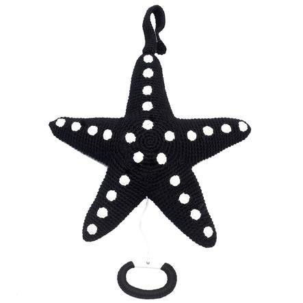 natureZoo of Denmark Peluche musicale à crochet étoile de mer noir