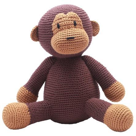 """Nature Zoo of Denmark """"háčkované plyšová hračka opice, tmavě hnědá"""""""
