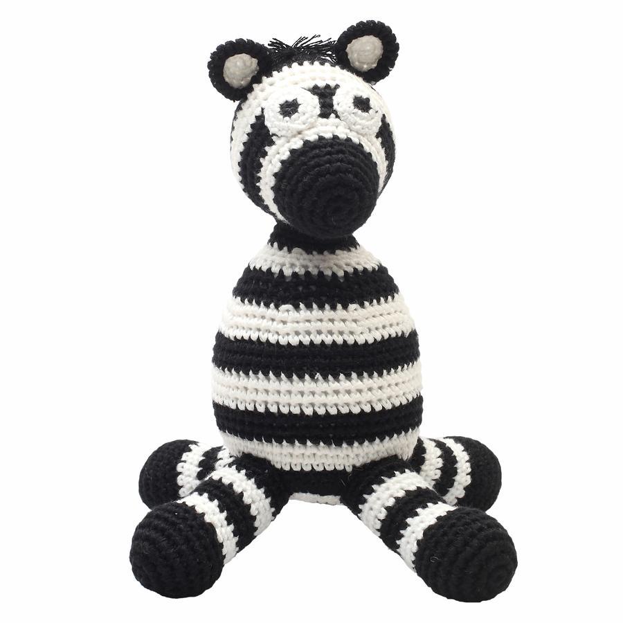natureZoo of Denmark »gehäkeltes Kuscheltier Zebra, schwarz«