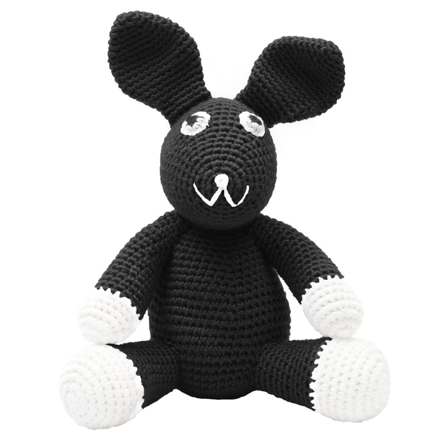 """""""příroda Zoo Dánska """"""""háčkovaná plyšová hračka králík, černá"""""""""""""""