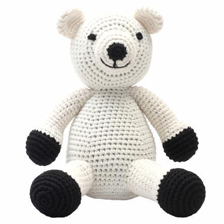 """""""Nature Zoo of Denmark """"""""háčkované plyšová hračka lední medvěd XL, bílý"""""""""""""""