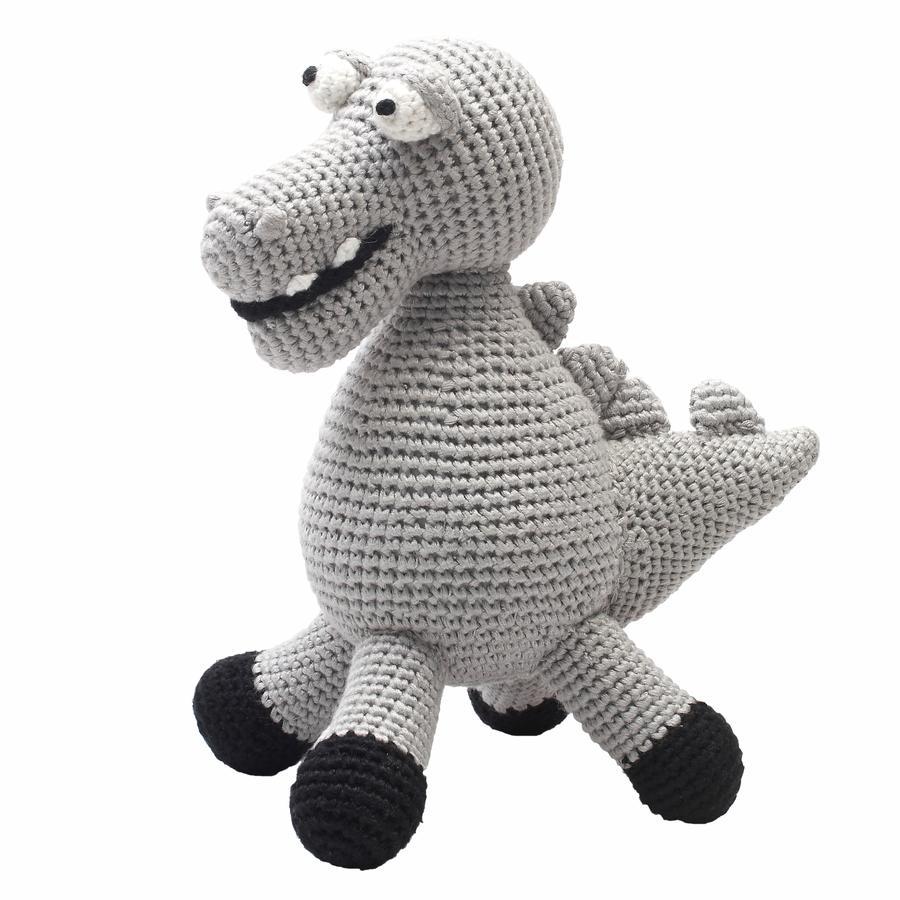 """""""Nature Zoo of Denmark """"""""háčkované plyšová hračka XL krokodýl šedá"""""""""""""""