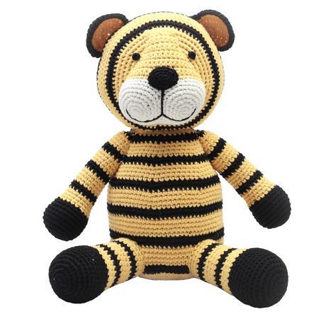 natureZoo of Denmark Peluche à crochet tigre XL jaune