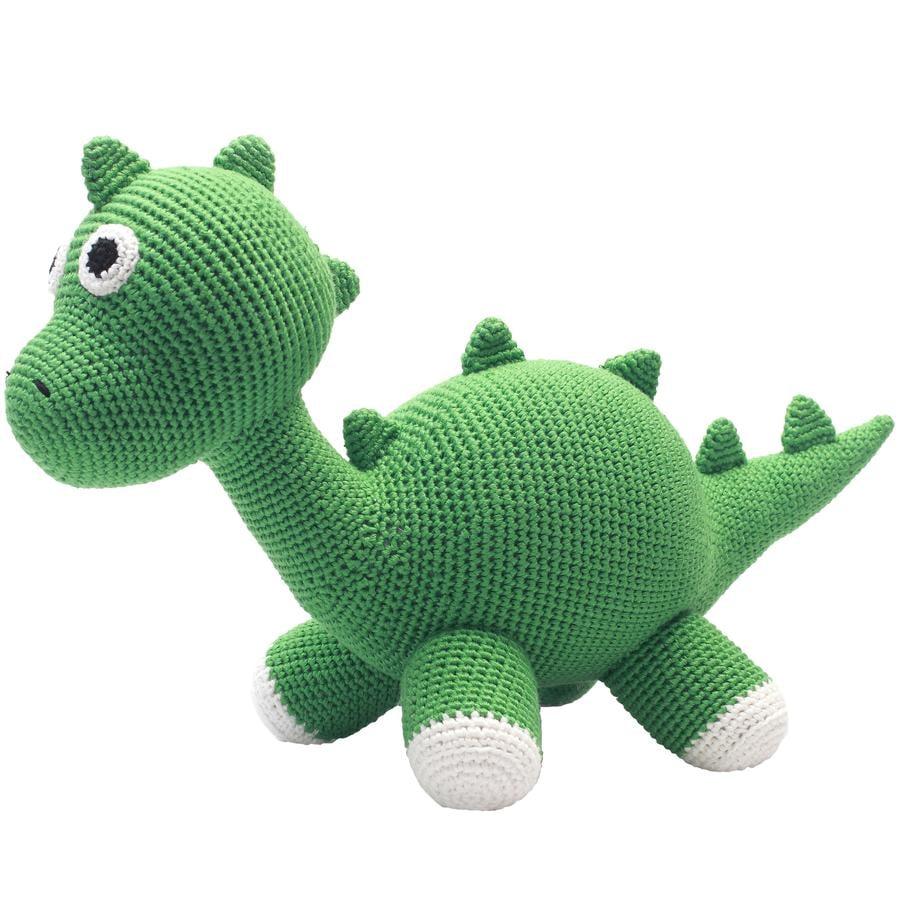 natureZoo of Denmark Knuffeldier XL Dino gehaakt groen