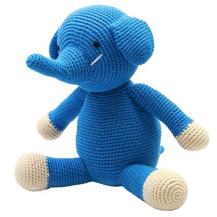 """příroda Zoo Dánska """"háčkovaná plyšová hračka slon XL, modrá"""""""