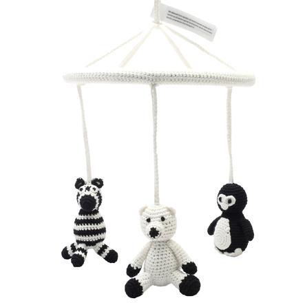 natureZoo of Denmark » Szydełkowa karuzela Niedźwiedź polarny, Pingwin & Zebra, biała«