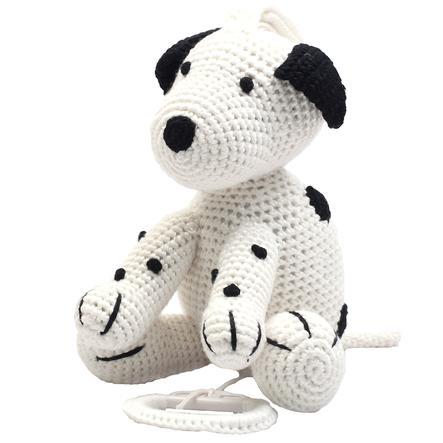 natureZoo of Denmark Muziekdier Hond gehaakt wit