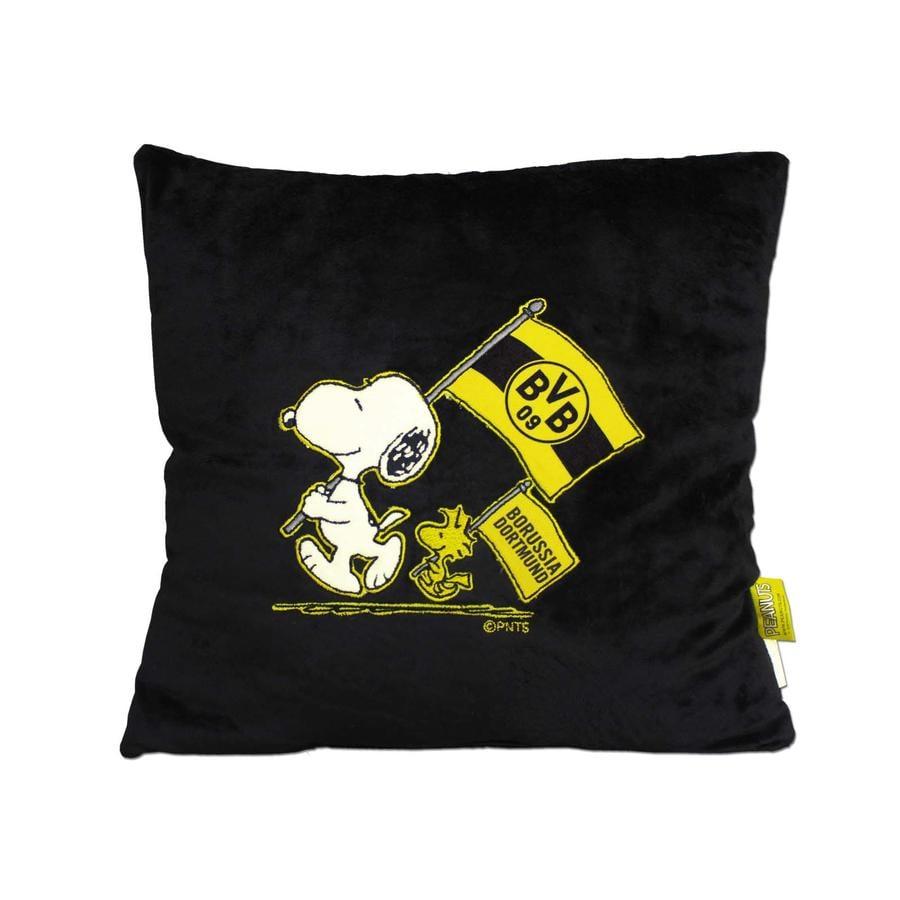 BVB Coussin peluche Snoopy noir (38x38cm)