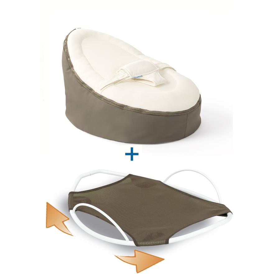 Domoo Seat Zitzak.Doomoo Seat Set Zitzak En Swing Wipstoel Original Taupe