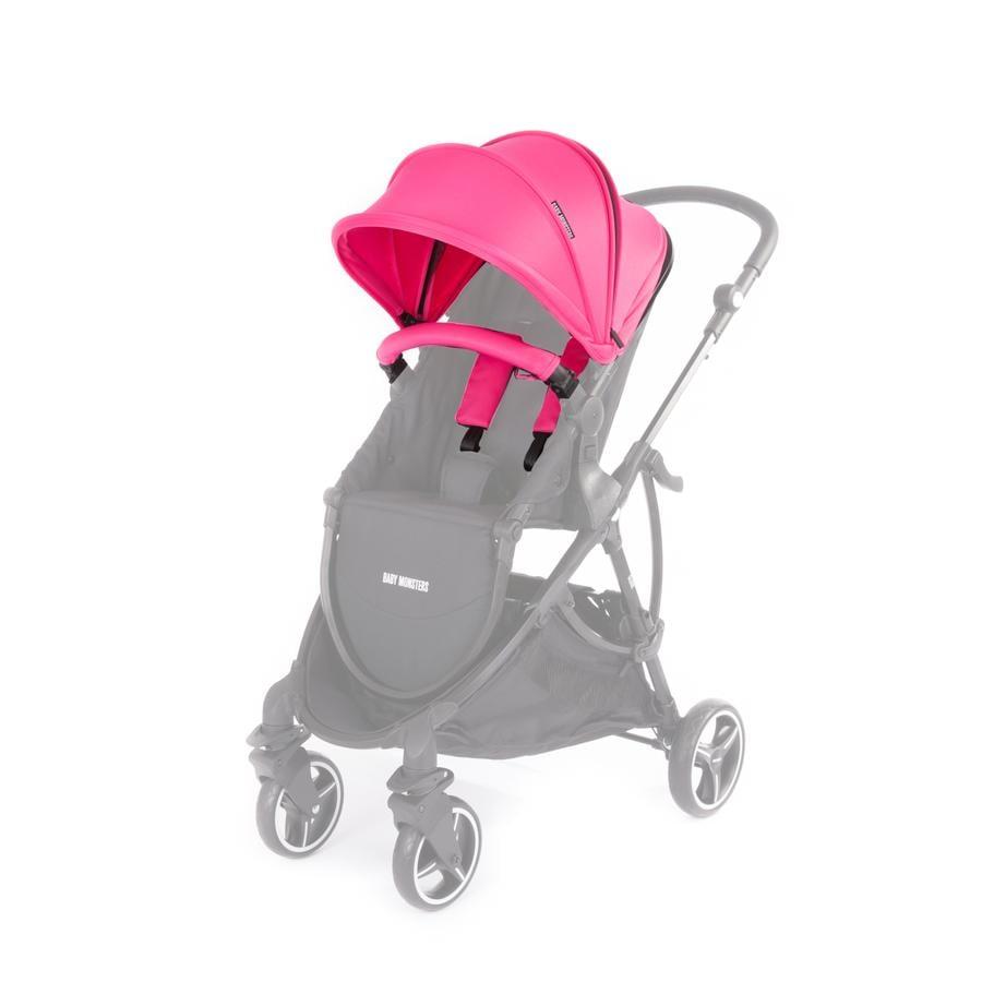 BABY MONSTERS Zestaw kolorystyczny do wózka Globe, Fuchsia