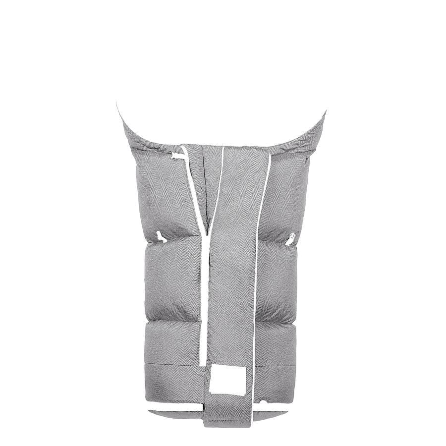 odenwälder Fußsack Keep Heat XL new woven soft grey