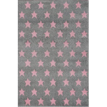 LIVONE Dywan dziecięcy KKids Love Rugs Dreamstar160 x 220 cm, kolor srebrnoszary/różowy