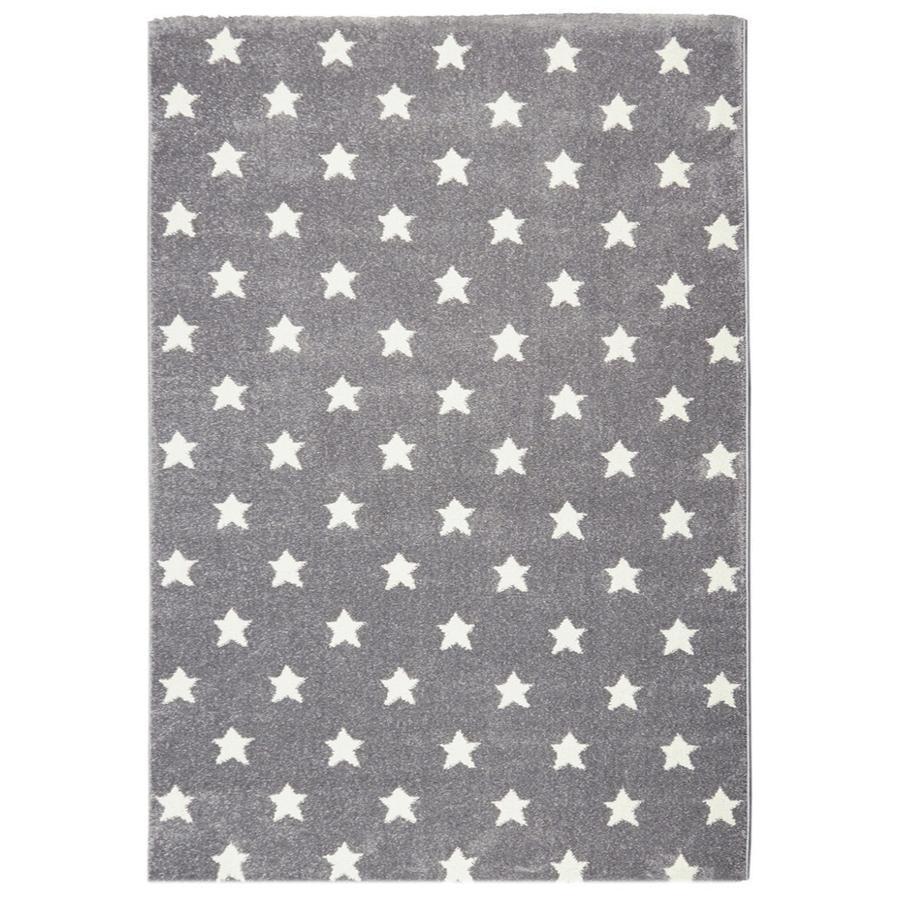 LIVONE Kids Love Rugs Dream star play a dětský koberec - stříbrná šedá / bílá 120 x 170 cm