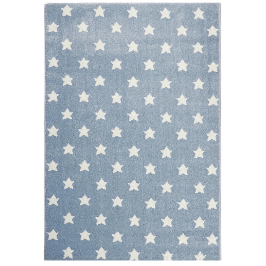 LIVONE Kids Love Rugs Dream star play a dětský koberec - modrošedá / bílá 120 x 170 cm