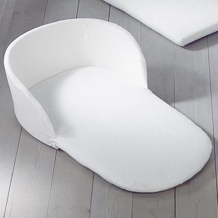 LEIPOLD Huvudstöd med madrassöverdrag för vaggor, frotté vit