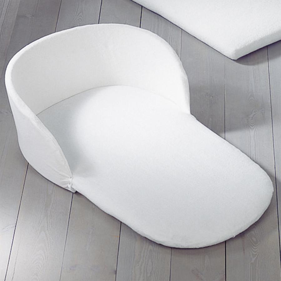 LEIPOLD Kopfschutz mit Spannbetttuch für Stuben- und Bollerwagen Frottee weiß