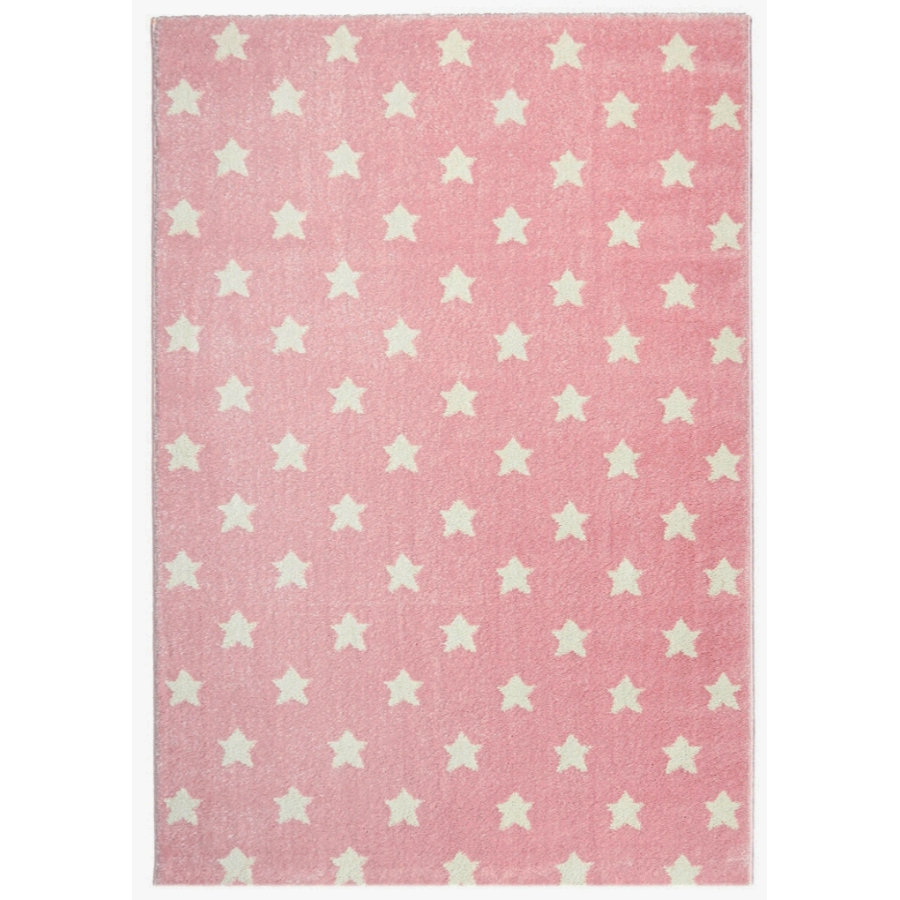LIVONE Barnmatta Kids Love Rugs - Dreamstar rosa/vit 120 x 170 cm