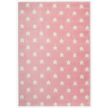 Tapis LIVONE Kids Love Rugs jeu d' Dream étoiles et tapis pour enfants - rose/blanc 160 x 220 cm