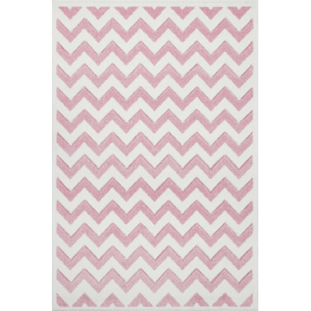 LIVONE Dywan dziecięcy Kids Love Rugs Linus 120 x 170 cm, kolor różowy/ biały
