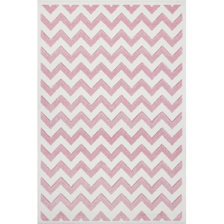 LIVONE Dywan dziecięcy Kids Love Rugs Linus 160 x 220 cm, kolor różowy/ biały