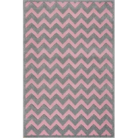 Tappeti LIVONE Kids Love Rugs Tappeti Linus gioco e tappeti per bambini - grigio argento/rosa 120 x 170 cm