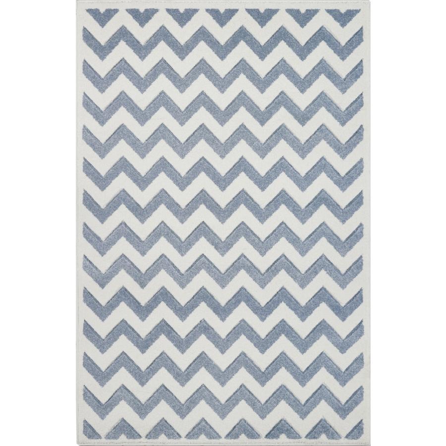 LIVONE Barnmatta Kids Love Rugs Linus - blå/vit, 100 x 150 cm