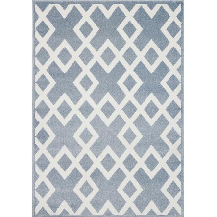 LIVONE Kids Love Rugs play and children's carpet Block - azul/blanco 120 x 170 c