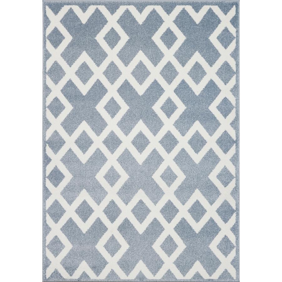 LIVONE Dywan dziecięcy Kids Love Rugs Block 120 x 170 cm, kolor niebieski / biały