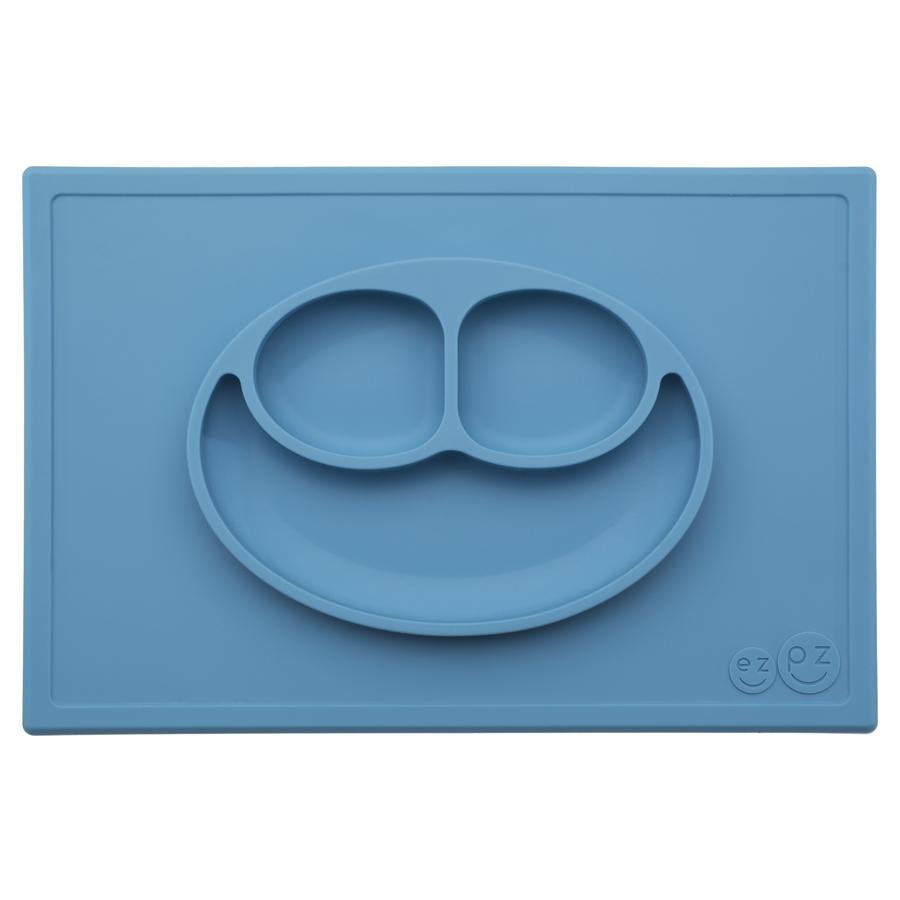 ezpz™ Assiette antidérapante Happy Mat, bleu