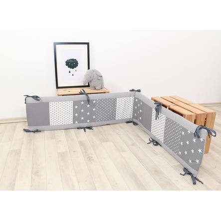 Ullenboom Patchwork Nestje voor box 100x100 cm grijs sterren (200 cm)