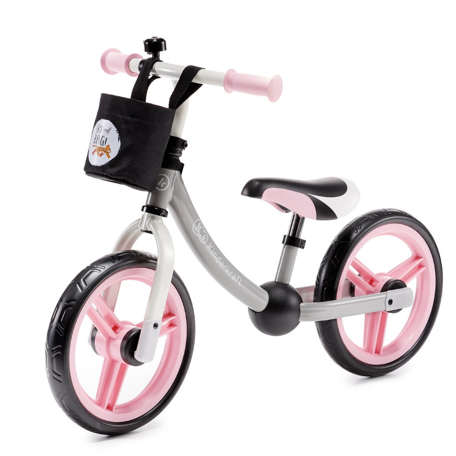 Kinderkraft - Løp balansesykkel 2WAY NEXT, pink