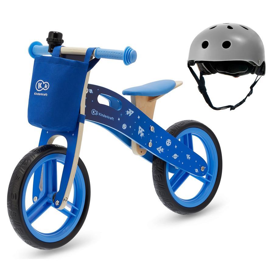 Kinderkraft - Balance Lauffahrrad Runner mit Zubehör und Helm, blau
