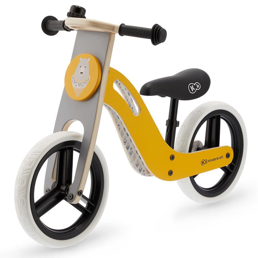 Kinderkraft - Balance Rowerek biegowy UNIQ, miodowy/żółty