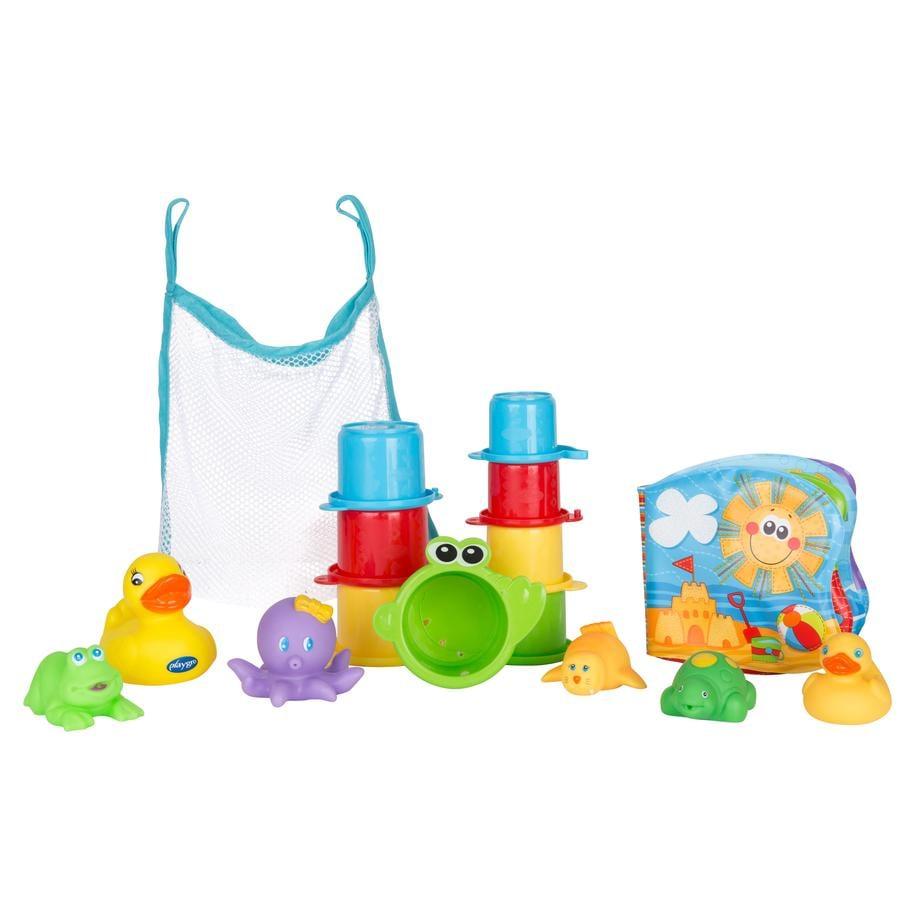 playgro Badespielzeug Geschenkset (15-teilig) – Spielzeug für die Badewanne