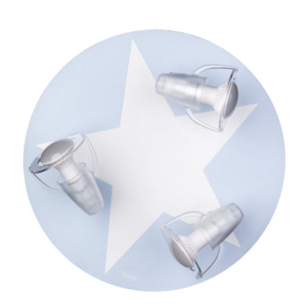 WALDI Taklampe lys blå med stjernehvit 3-flg.