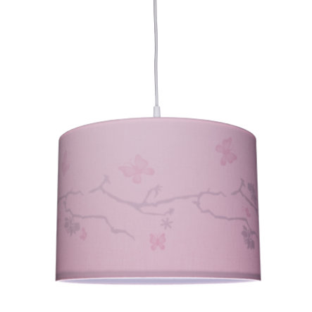 WALDI Závěsná lampa růžová silueta motýl 1-flg.