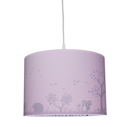 WALDI Suspension enfant rose Silhouette faon 1 lumière bois