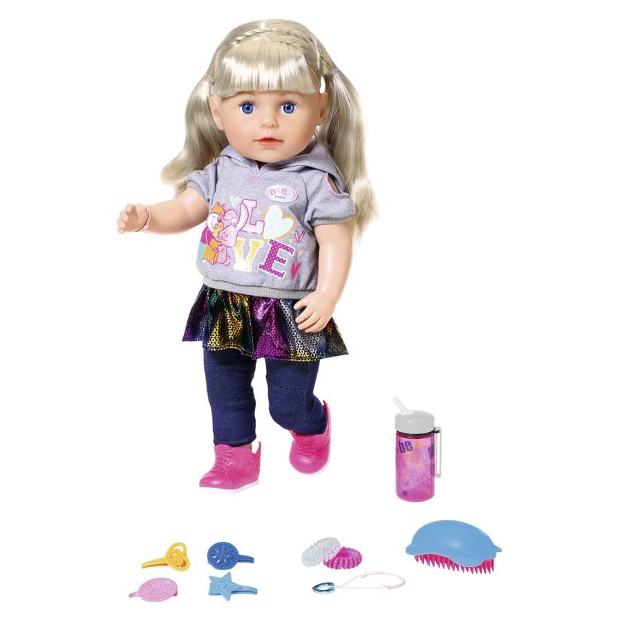 Zapf Creation Poupée BABY born® Soft Touch soeur blonde 43 cm